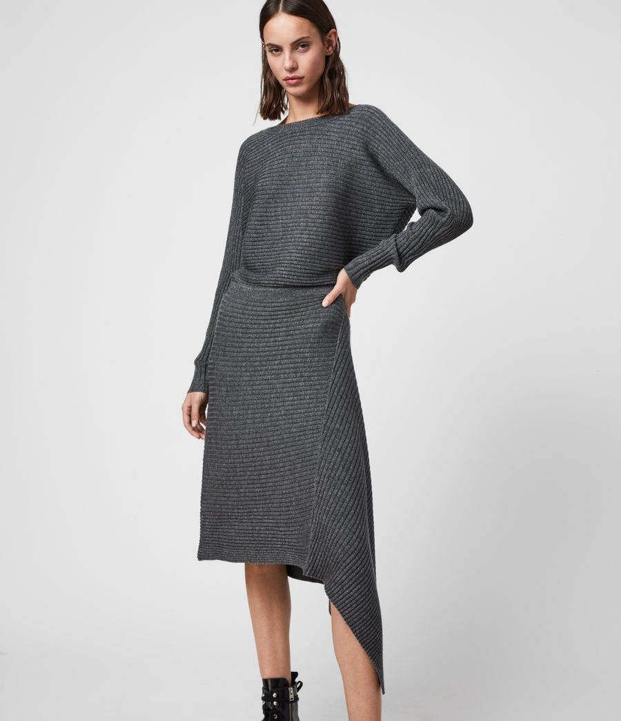 Women's Eva Metal Dress (charcoal_grey) - Image 1