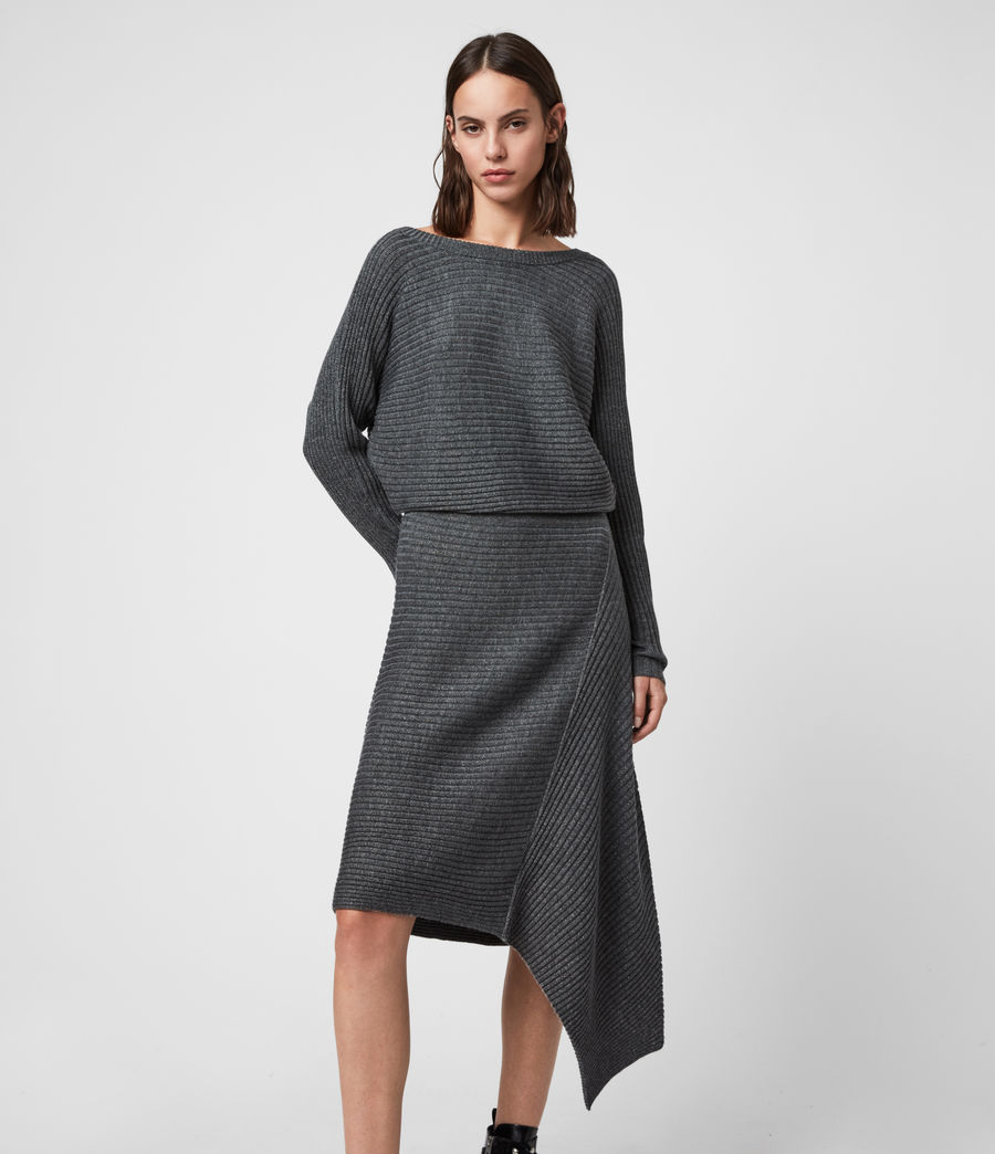 Women's Eva Metal Dress (charcoal_grey) - Image 4