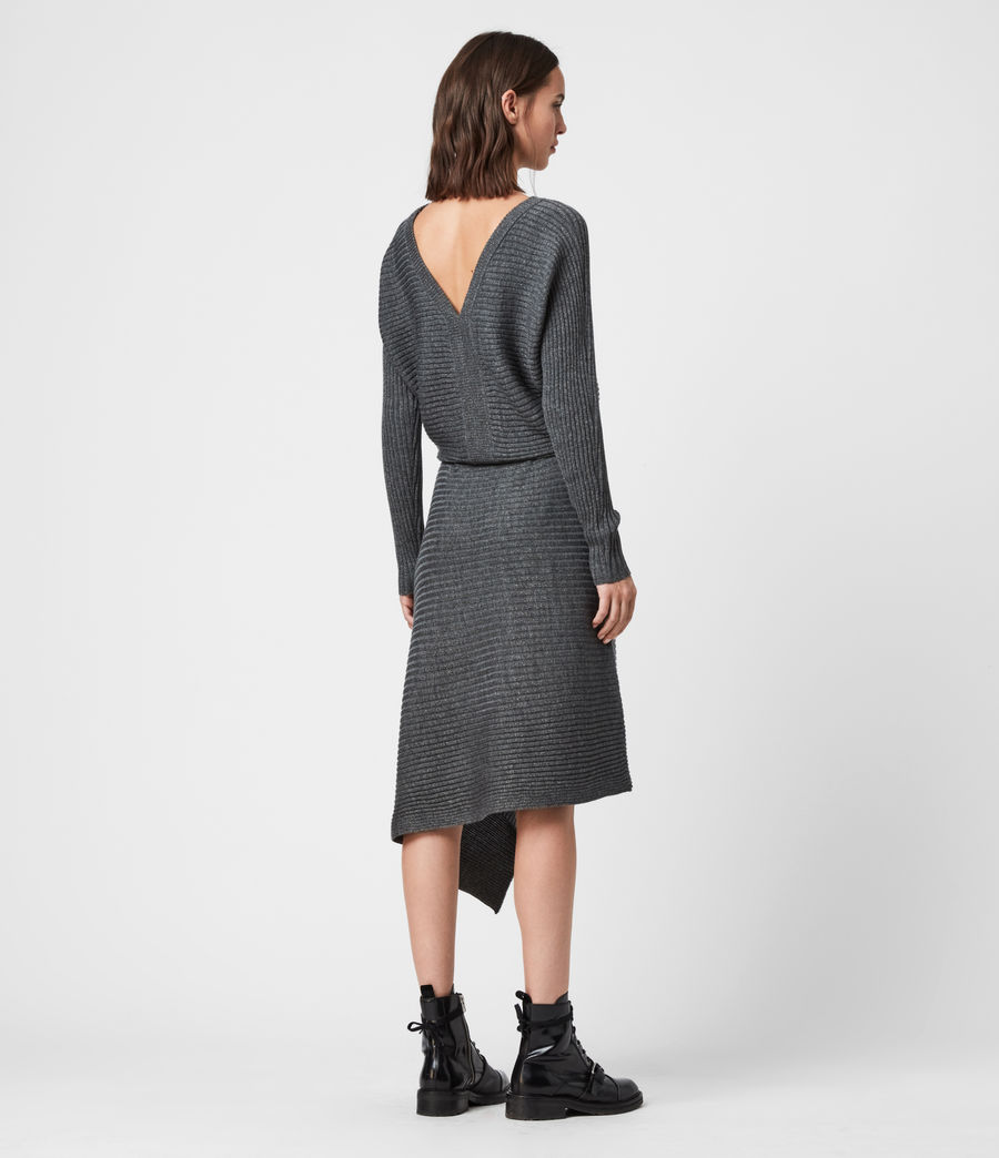 Women's Eva Metal Dress (charcoal_grey) - Image 6