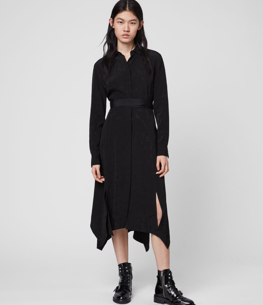 Womens Tilly Valentine Dress (black) - Image 3