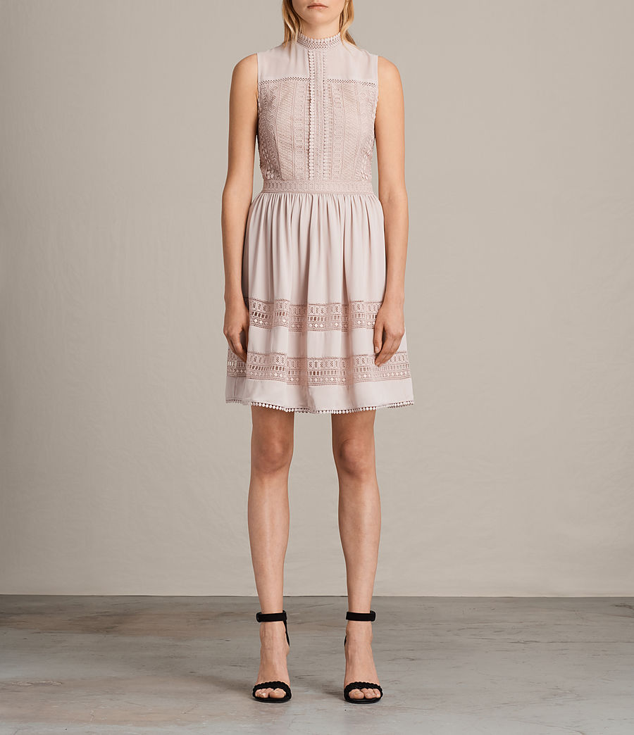 Womens Rowy Lace Dress (nude_pink) - Image 1