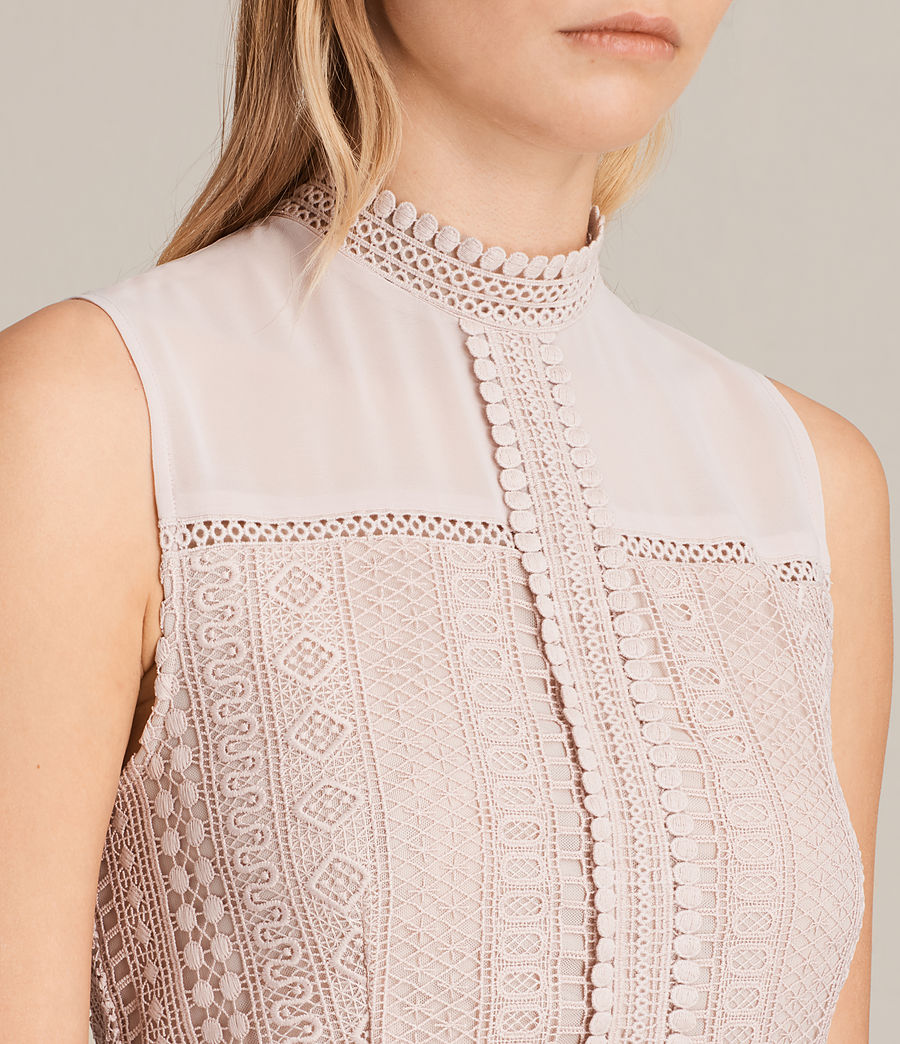 Womens Rowy Lace Dress (nude_pink) - Image 2