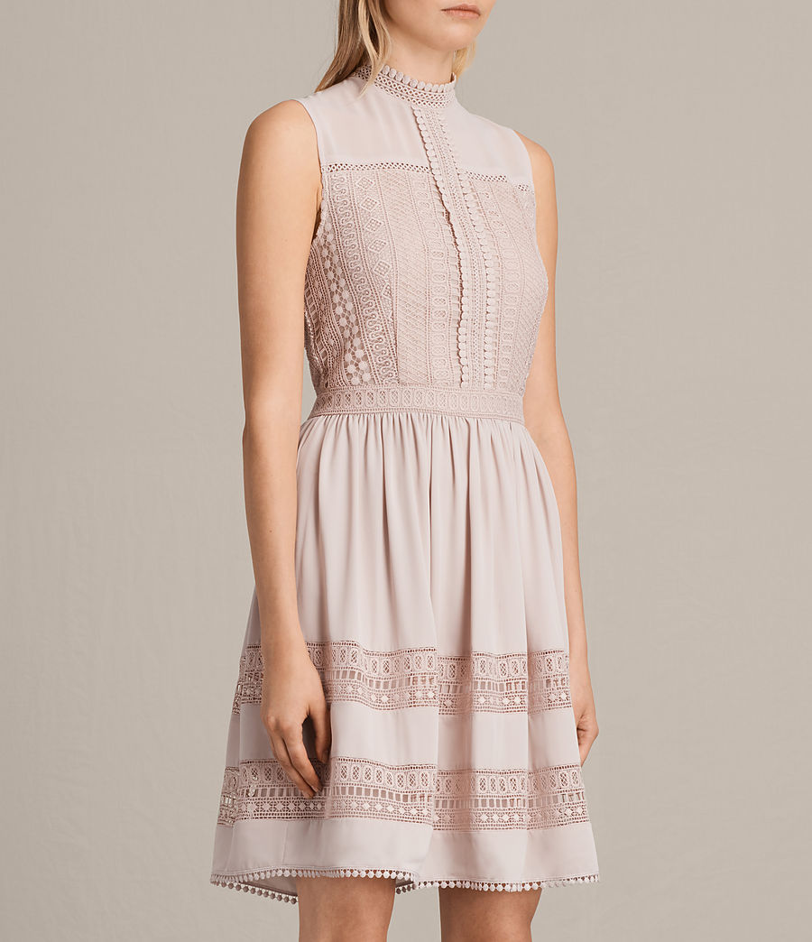 Womens Rowy Lace Dress (nude_pink) - Image 3