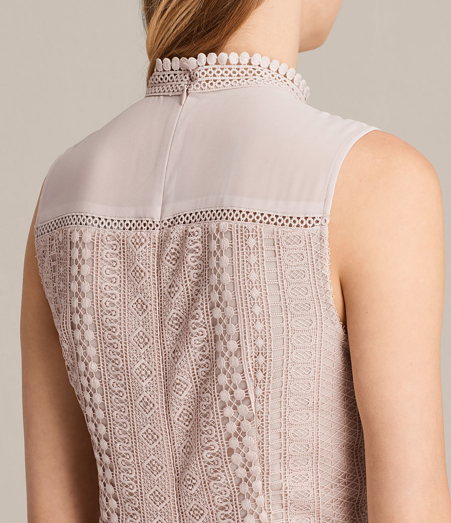 Womens Rowy Lace Dress (nude_pink) - Image 4