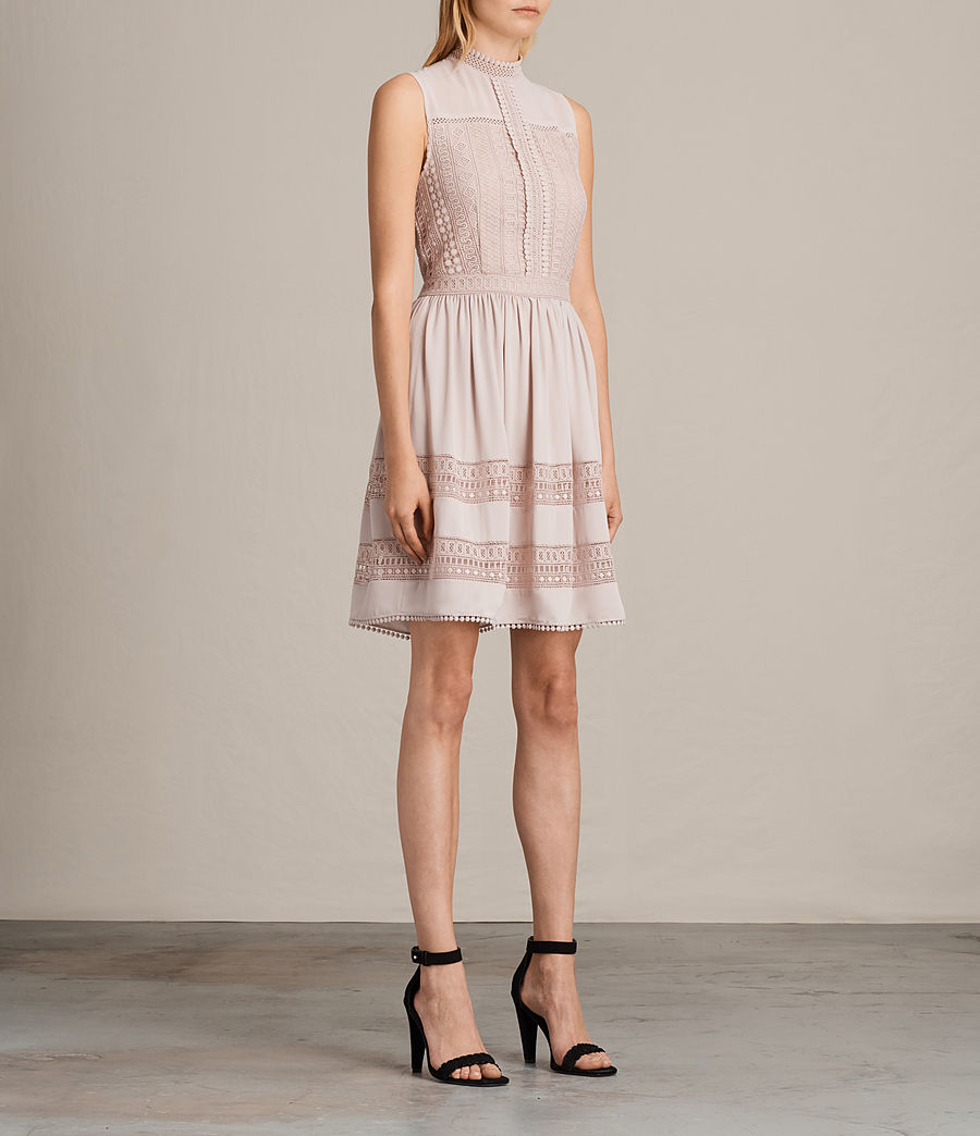 Womens Rowy Lace Dress (nude_pink) - Image 5