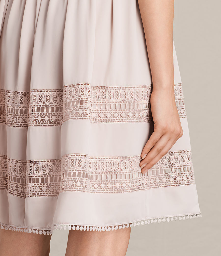 Womens Rowy Lace Dress (nude_pink) - Image 6
