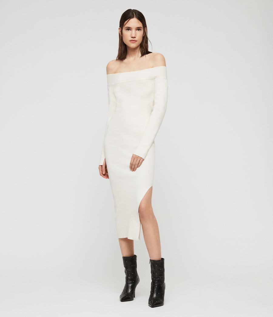 Women's Alyssa Dress (chalk_white) - Image 3