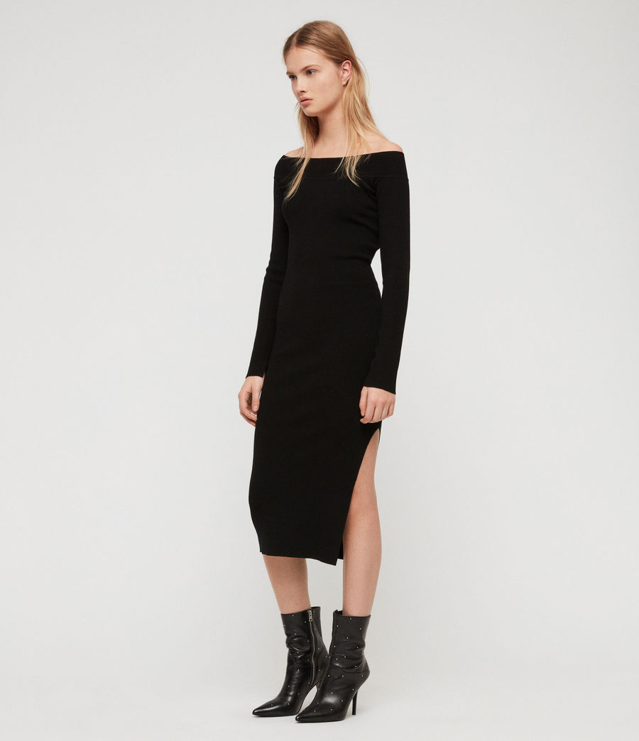Women's Alyssa Dress (black) - Image 1