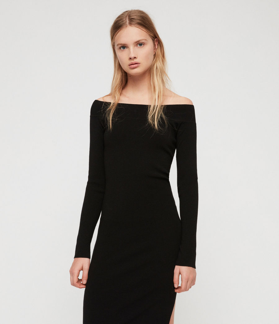 Women's Alyssa Dress (black) - Image 2