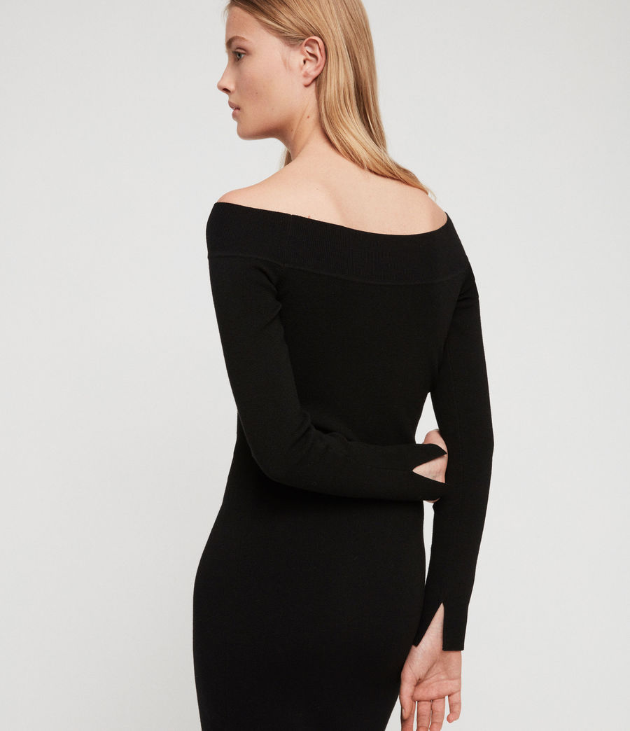 Women's Alyssa Dress (black) - Image 3