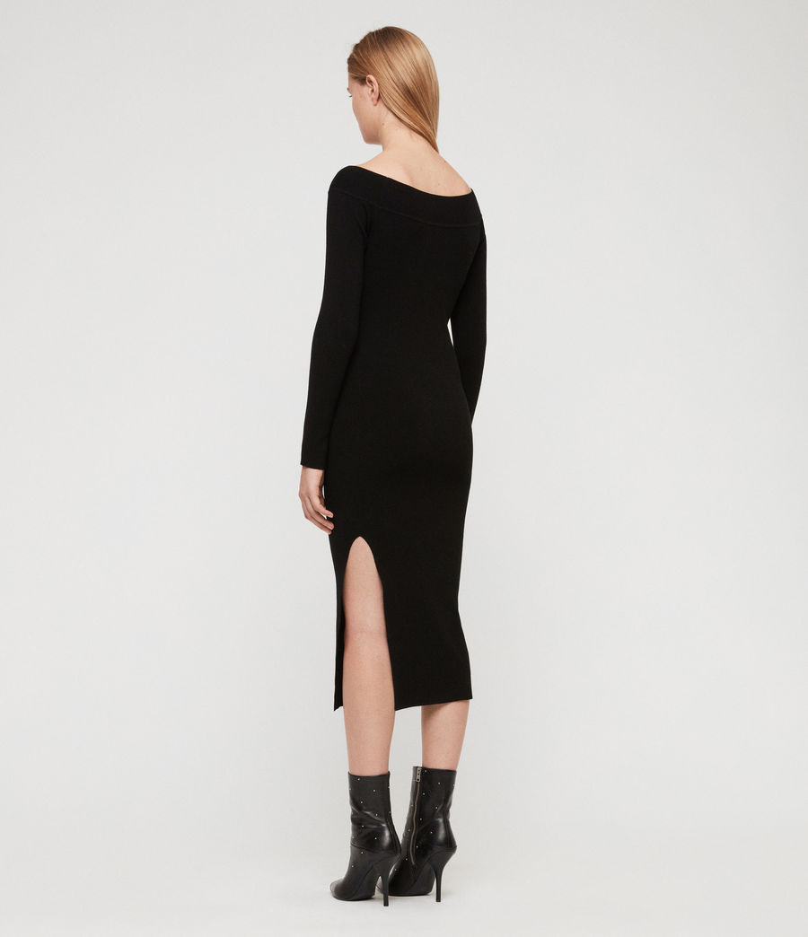 Women's Alyssa Dress (black) - Image 5
