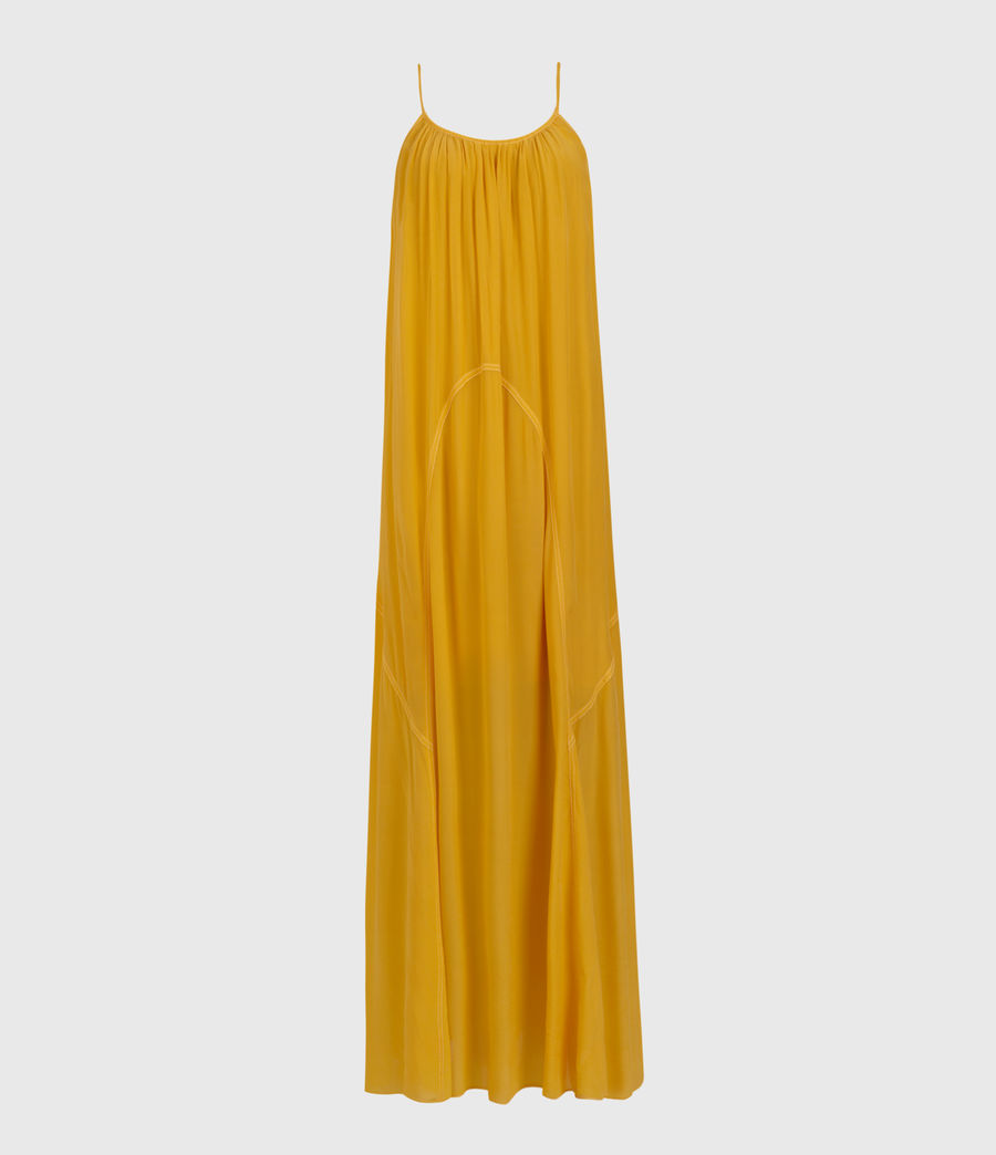Womens Amor Dress (tiger_lily_yellow) - Image 1