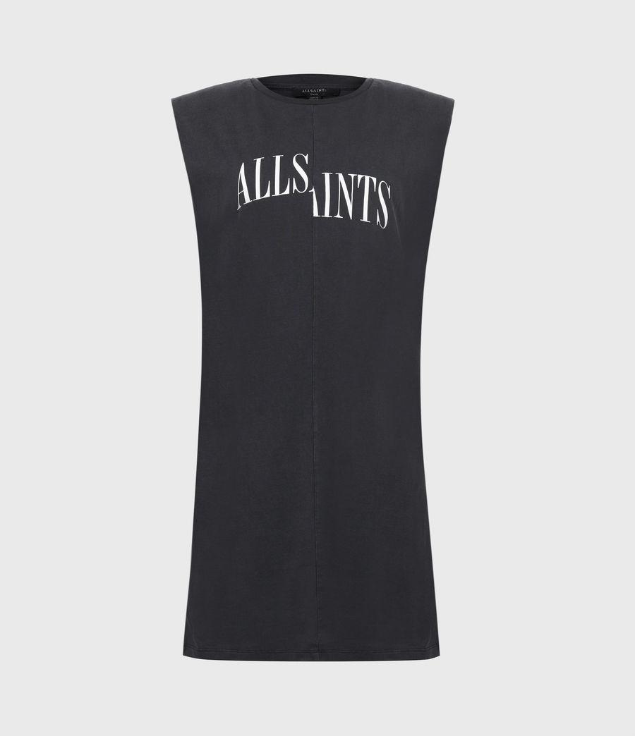 Women's Coni Organic Cotton Dropout Dress (acid_washed_black) - Image 2