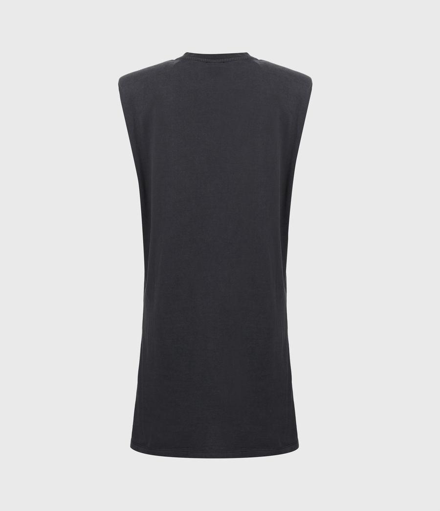 Women's Coni Organic Cotton Dropout Dress (acid_washed_black) - Image 3