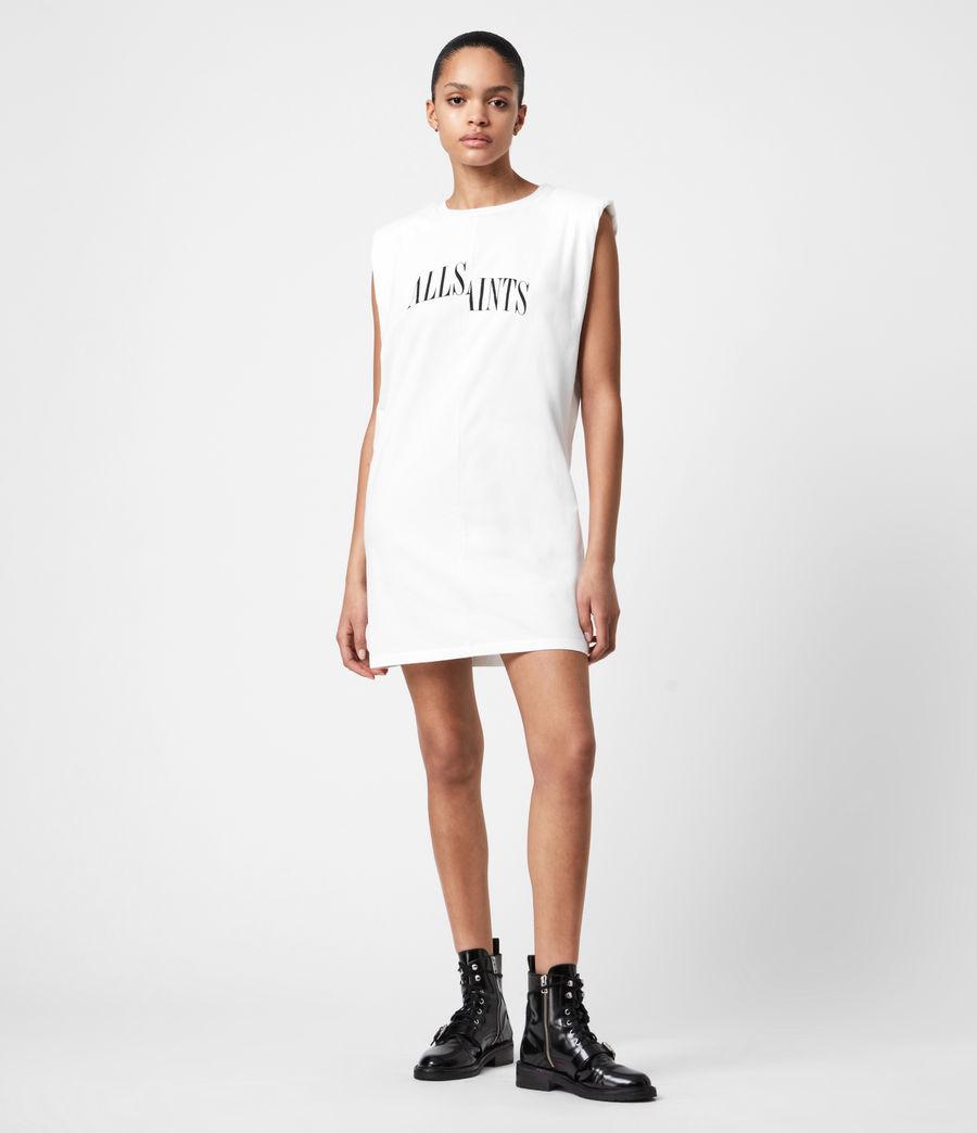 Women's Coni Organic Cotton Dropout Dress (optic_white) - Image 1