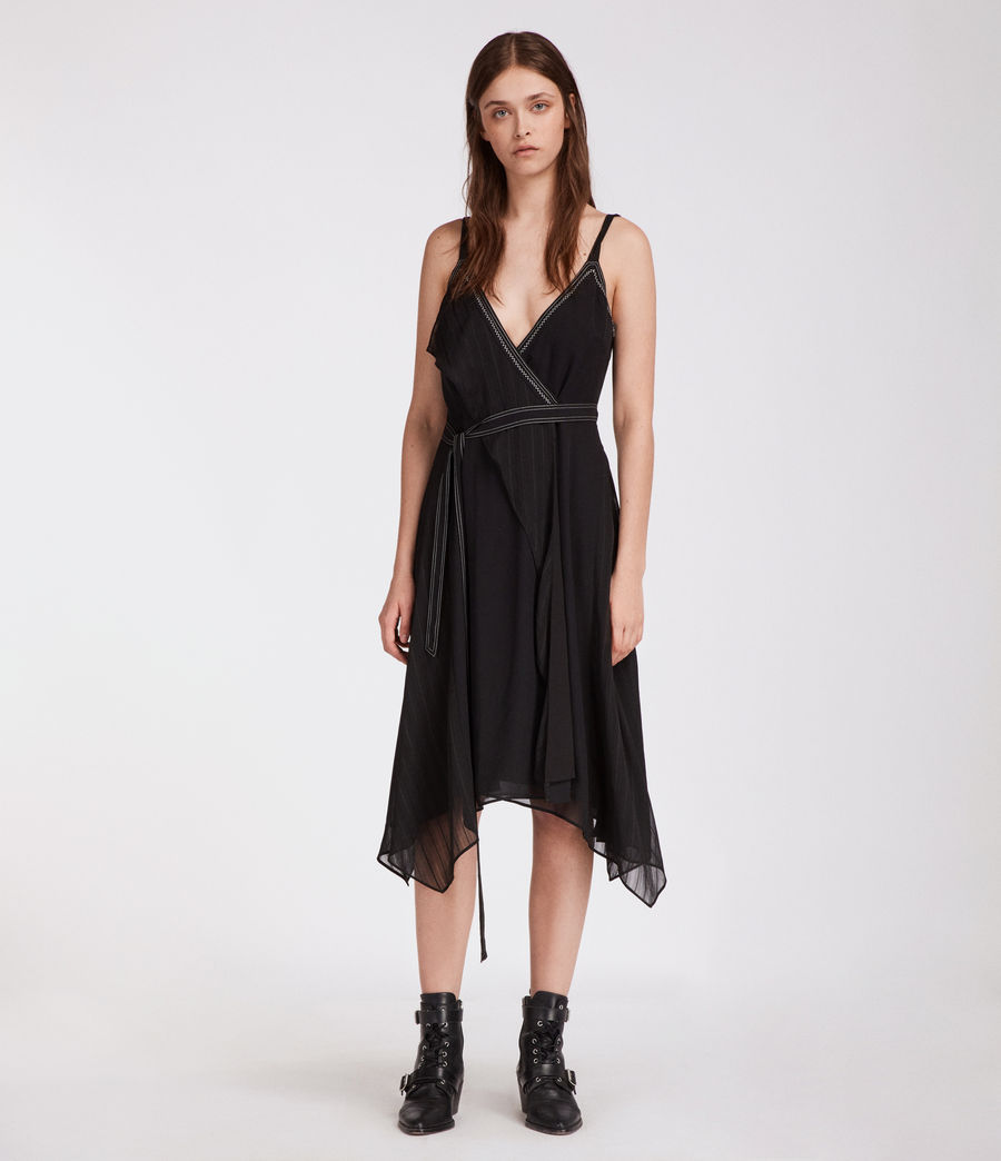 Womens Sienna Dress (black) - Image 1