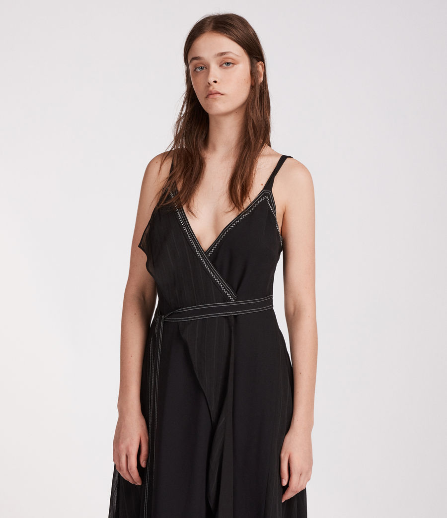 Womens Sienna Dress (black) - Image 3