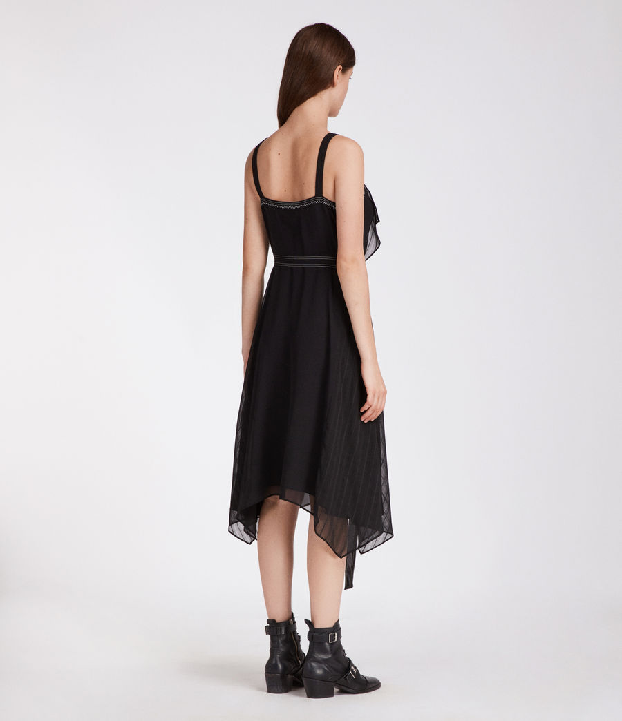 Womens Sienna Dress (black) - Image 5