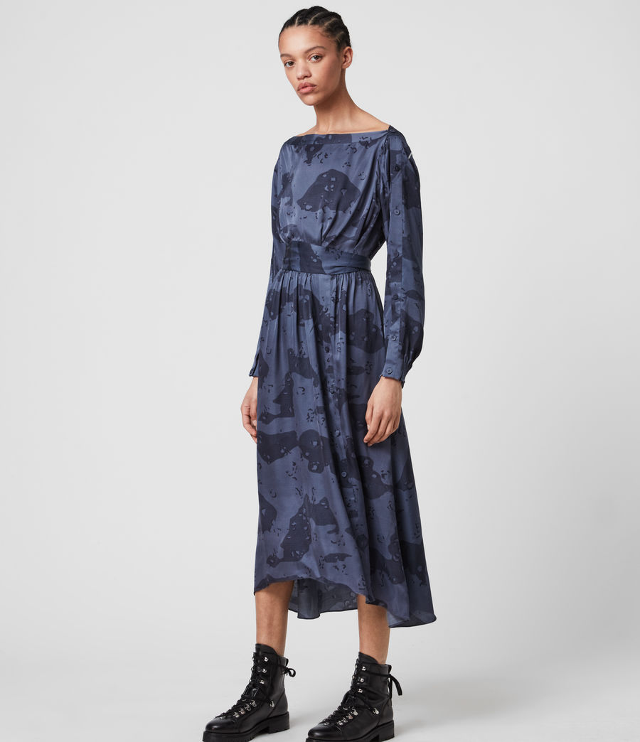Womens Faustin Acoustic Dress (mid_blue) - Image 3