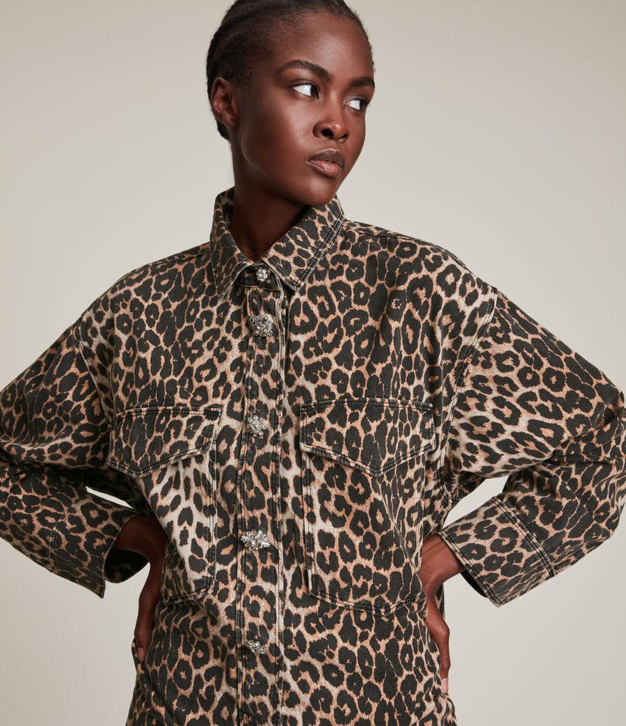Women's Lily Shacket Dress (leopard_brown) - Image 2