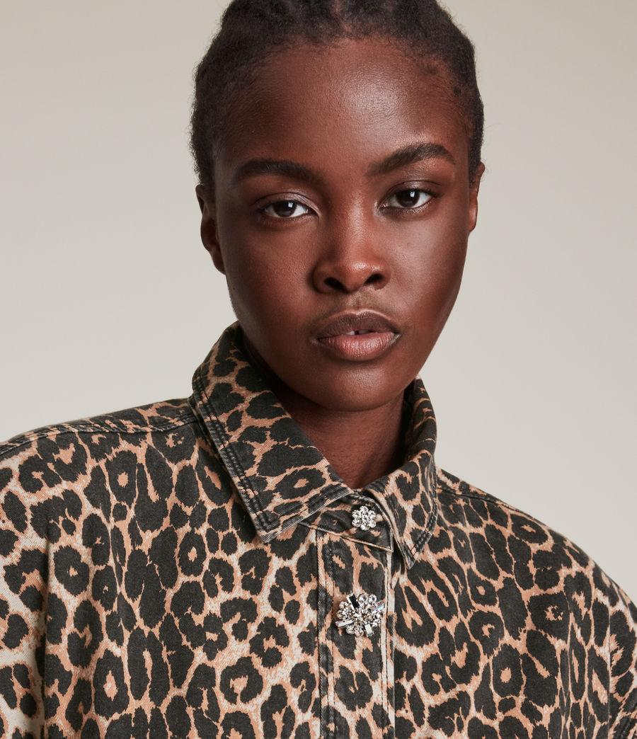 Women's Lily Shacket Dress (leopard_brown) - Image 3
