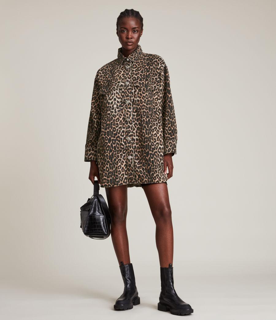 Women's Lily Shacket Dress (leopard_brown) - Image 4