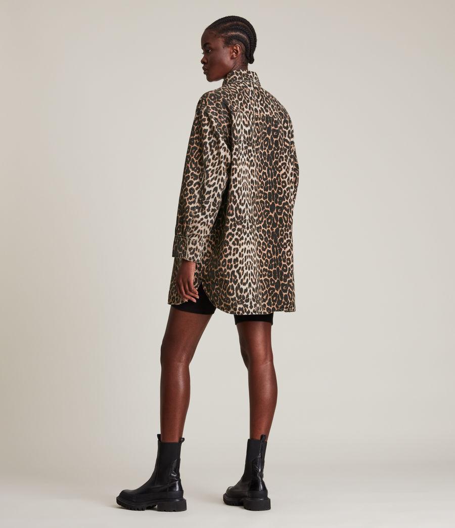 Women's Lily Shacket Dress (leopard_brown) - Image 6