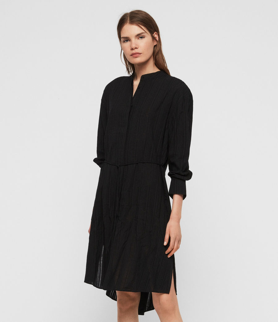 Womens Sani Shirt Dress (black) - Image 1