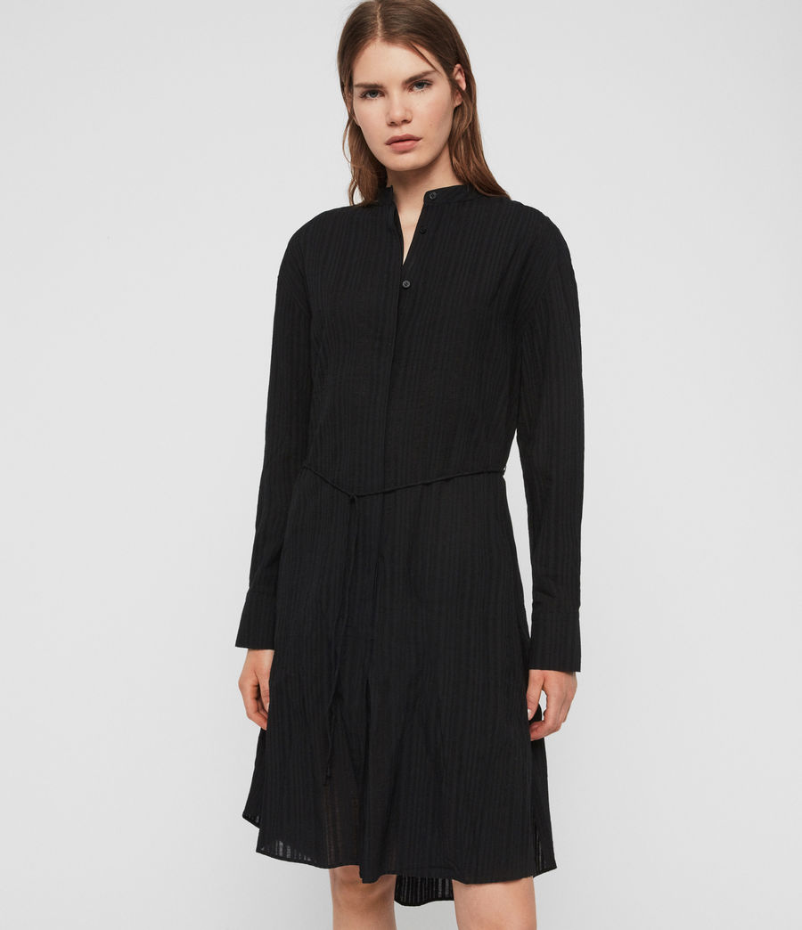 Womens Sani Shirt Dress (black) - Image 3