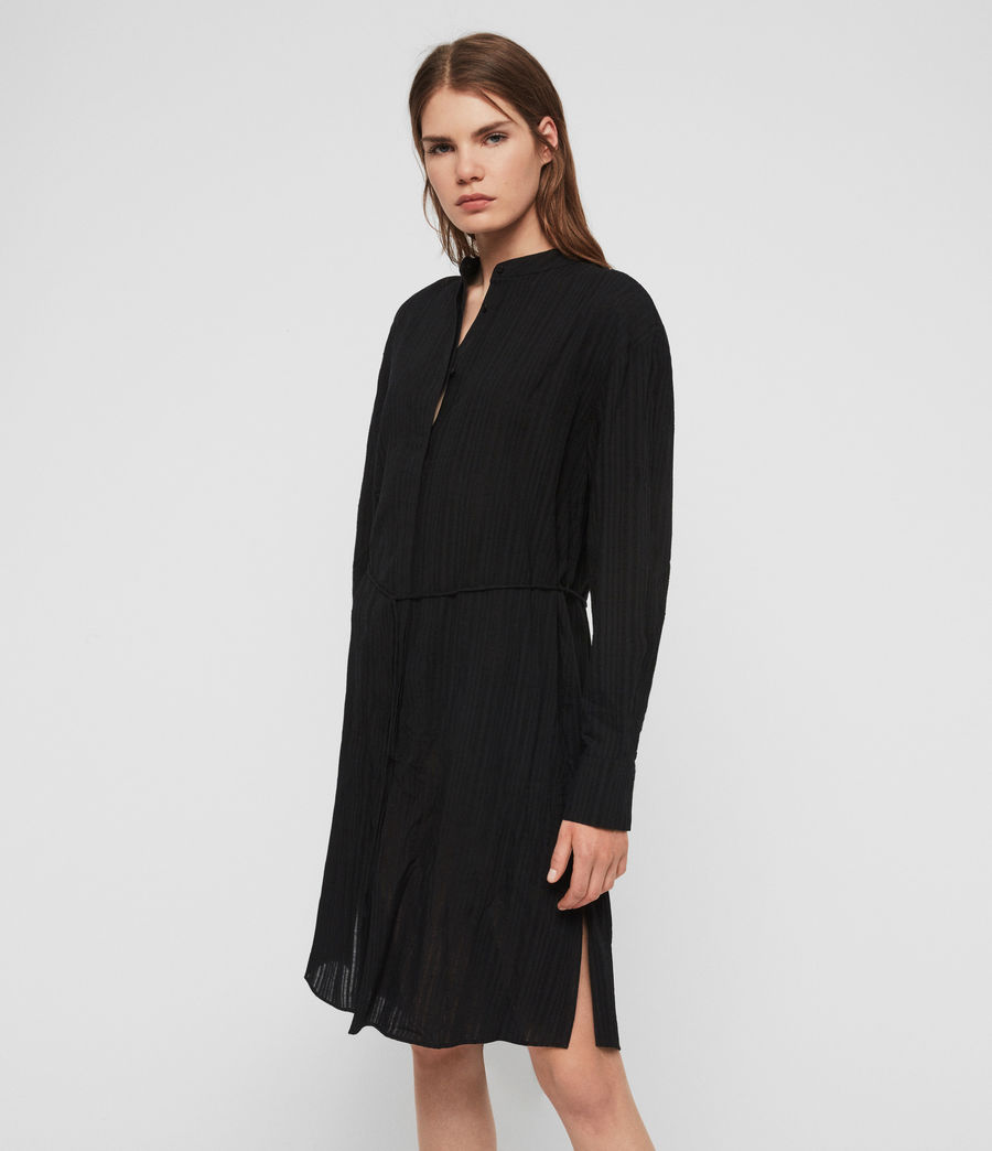Womens Sani Shirt Dress (black) - Image 4
