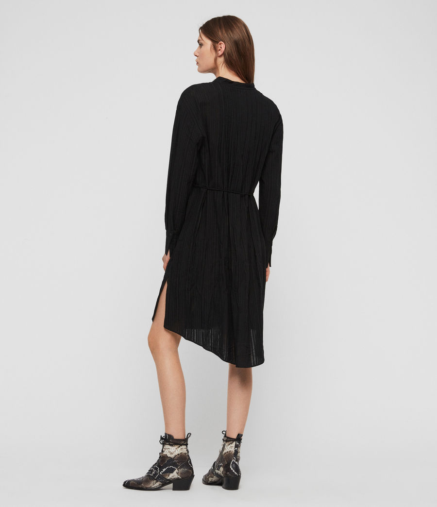 Womens Sani Shirt Dress (black) - Image 5