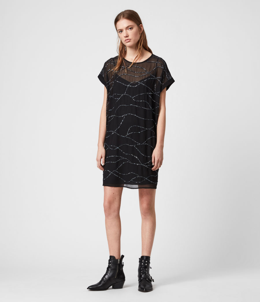 Women's Loran Embellished Dress (black) - Image 1
