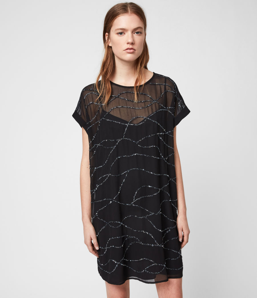 Women's Loran Embellished Dress (black) - Image 3