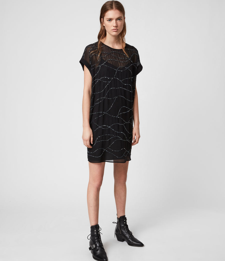 Women's Loran Embellished Dress (black) - Image 4