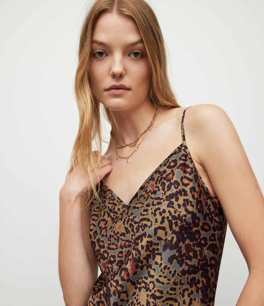 Women's Tiana Halftone Slip Dress (khaki_green) - Image 2