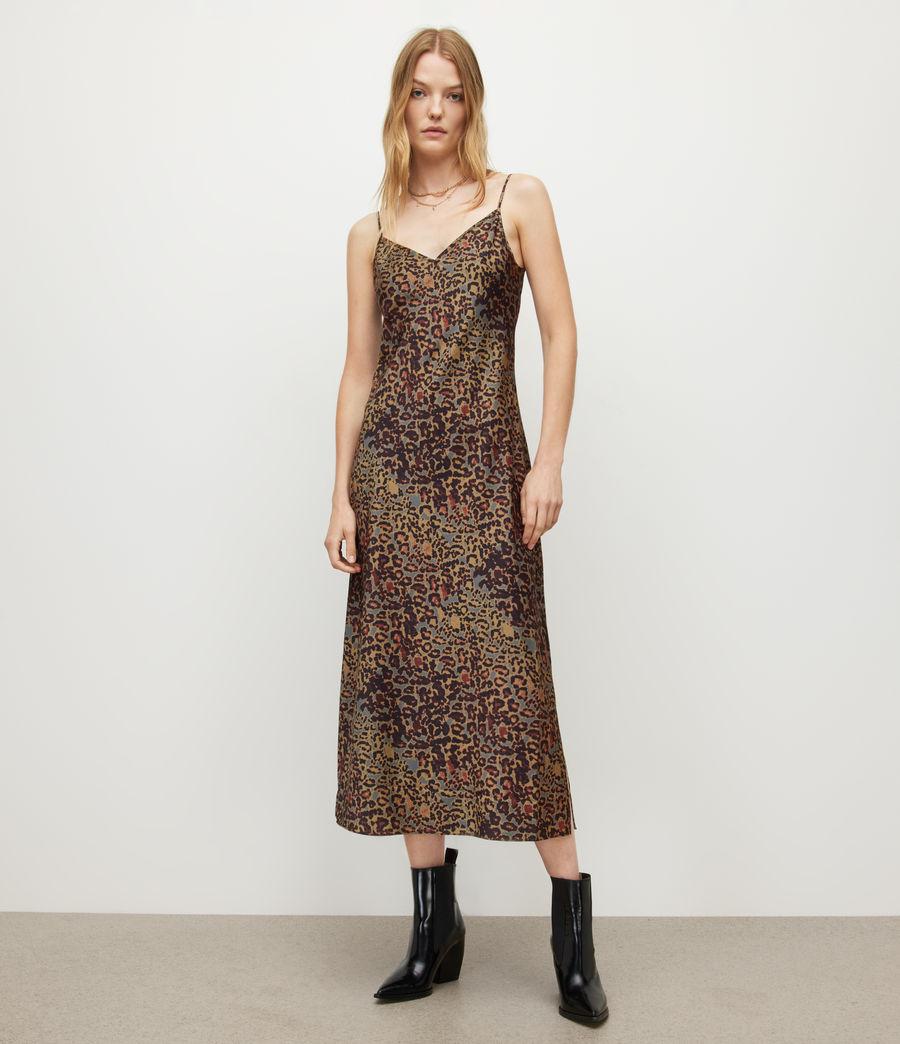 Women's Tiana Halftone Slip Dress (khaki_green) - Image 3