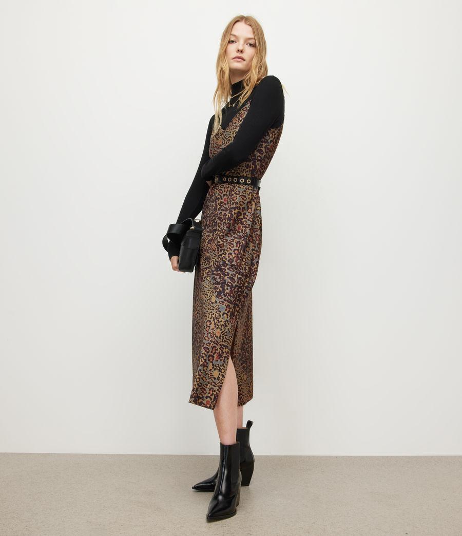 Women's Tiana Halftone Slip Dress (khaki_green) - Image 4
