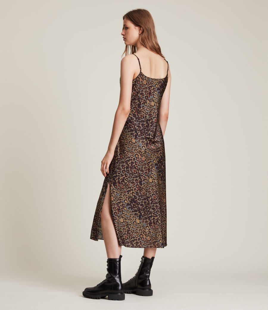 Women's Tiana Halftone Slip Dress (khaki_green) - Image 5