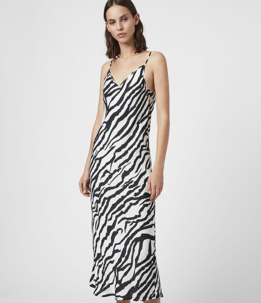 Women's Diza Zephyr Cashmere Blend Dress (black_ecru_white) - Image 2