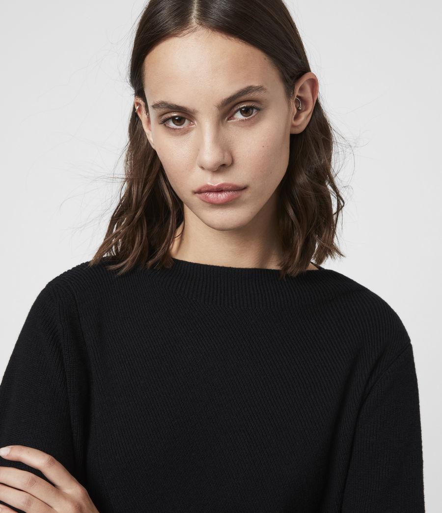 Women's Diza Zephyr Cashmere Blend Dress (black_ecru_white) - Image 6