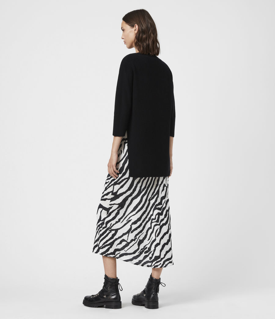 Women's Diza Zephyr Cashmere Blend Dress (black_ecru_white) - Image 7