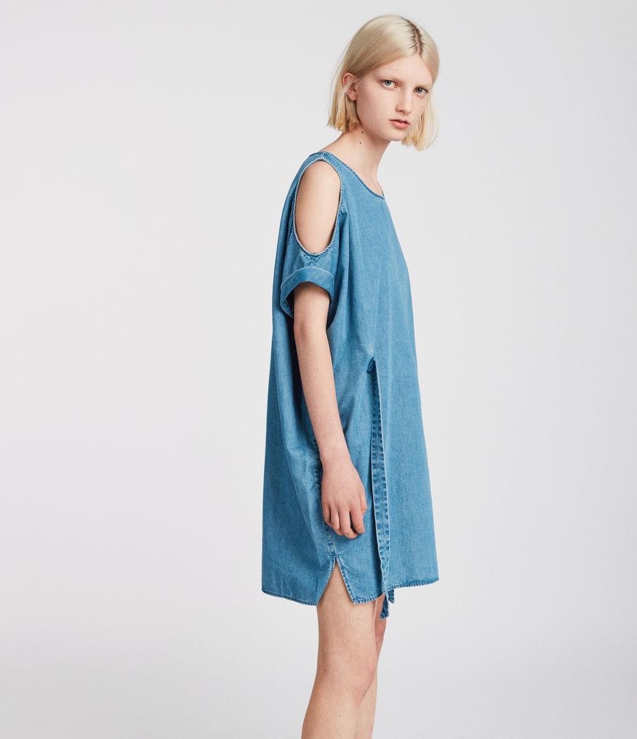 Womens Remi Chambray Dress (mid_indigo_blue) - Image 2