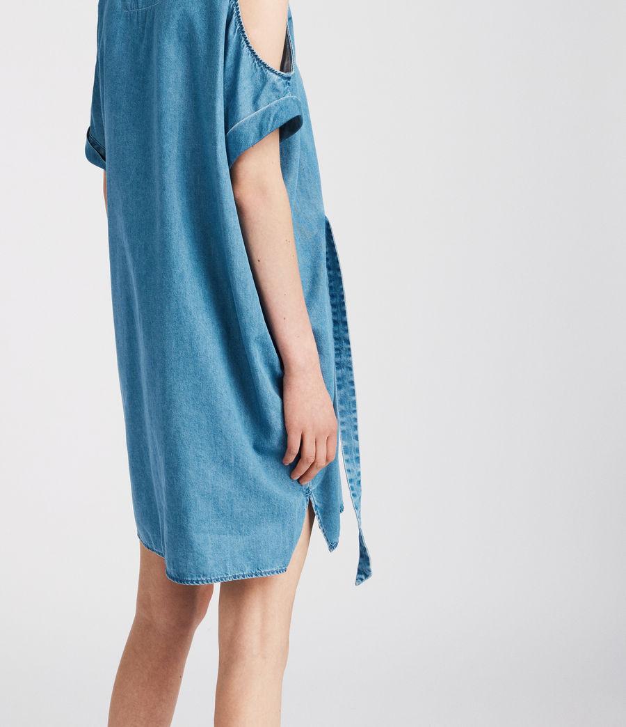 Womens Remi Chambray Dress (mid_indigo_blue) - Image 3