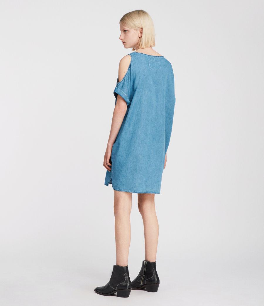 Womens Remi Chambray Dress (mid_indigo_blue) - Image 5