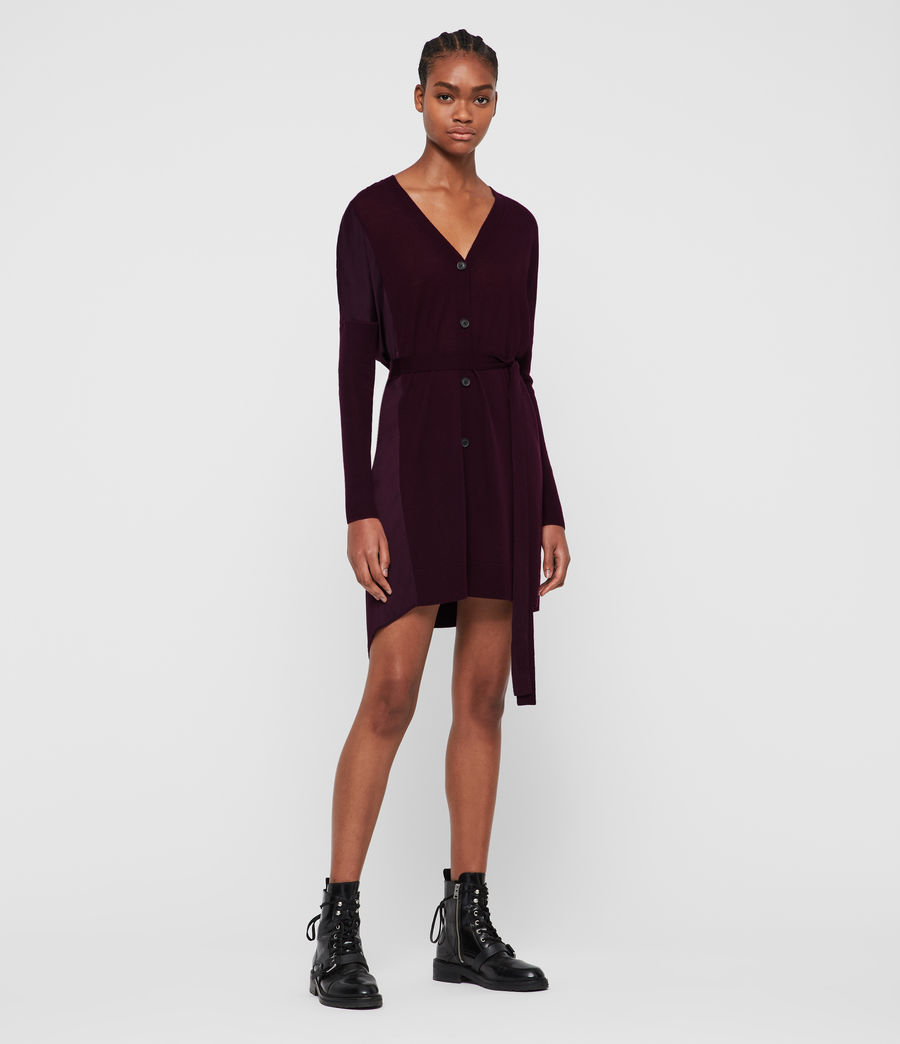 Femmes Robe-Cardigan Iva (port_purple) - Image 1