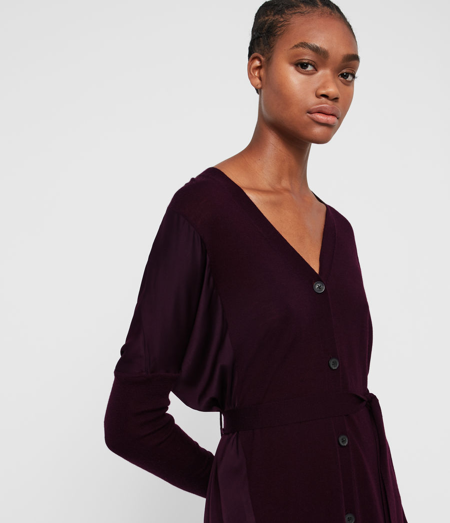 Femmes Robe-Cardigan Iva (port_purple) - Image 2