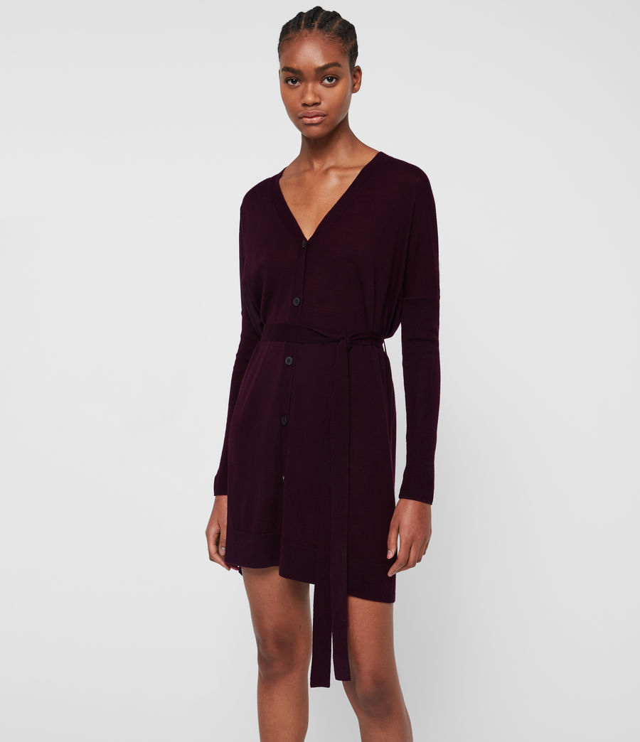 Femmes Robe-Cardigan Iva (port_purple) - Image 3