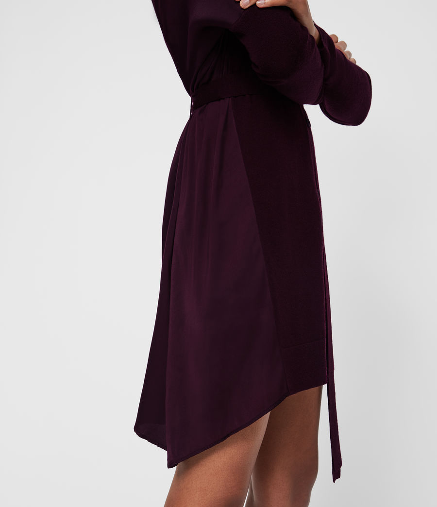 Femmes Robe-Cardigan Iva (port_purple) - Image 4
