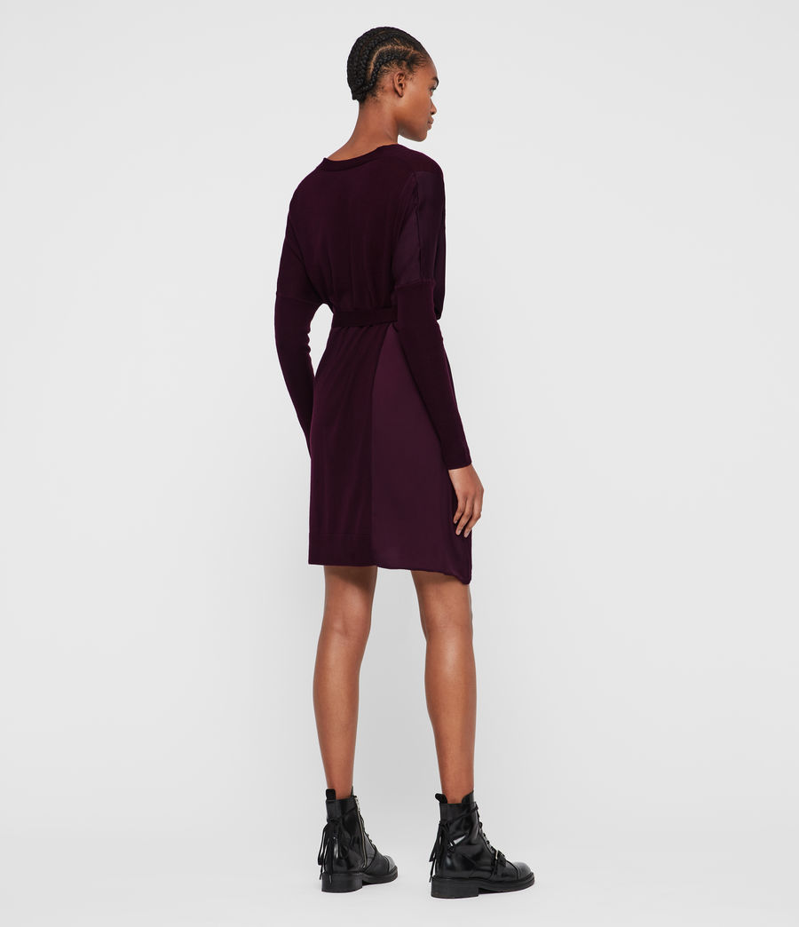 Femmes Robe-Cardigan Iva (port_purple) - Image 5
