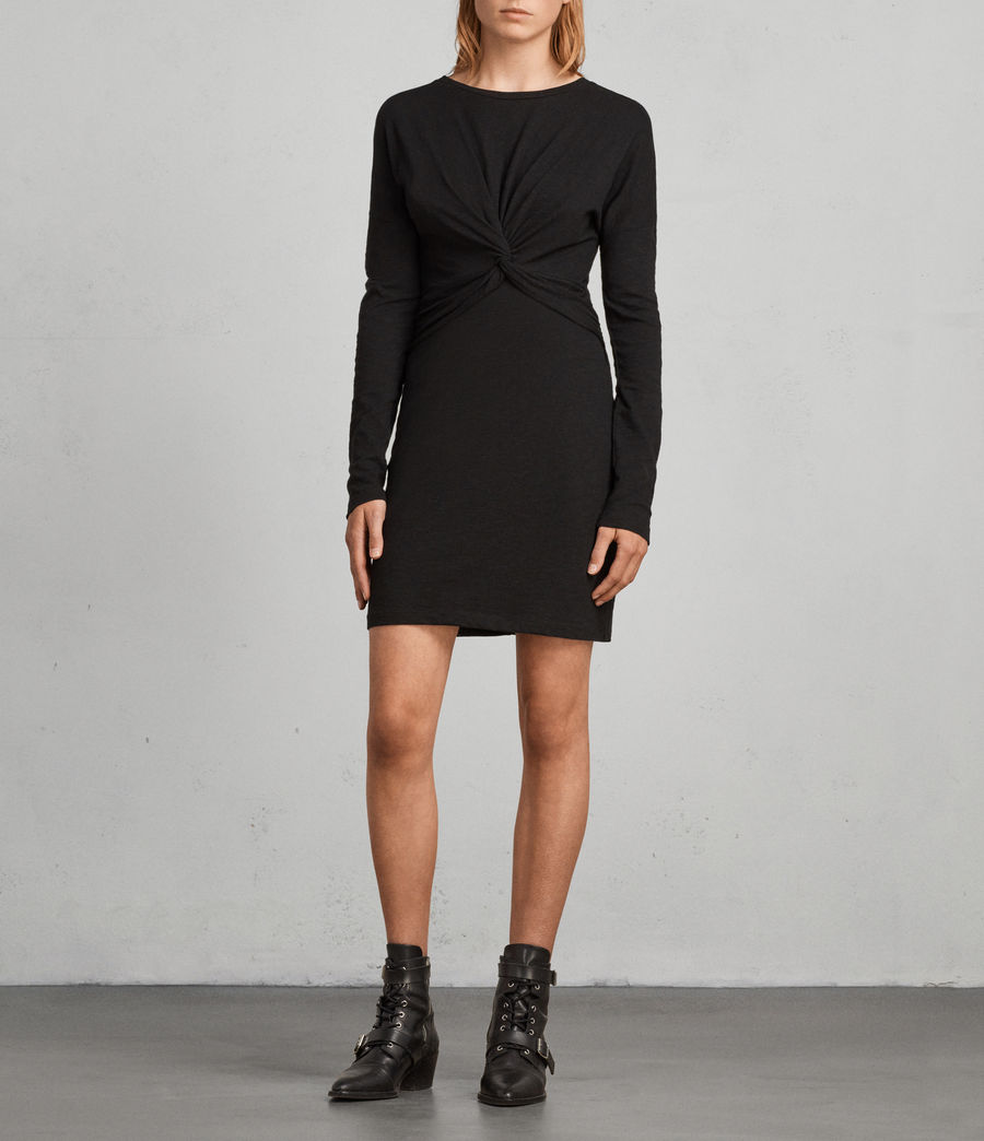 Womens Paloma Long Sleeve Dress (black) - Image 1